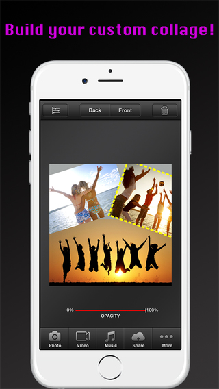 Clip Collage Builder Pro - Instant Photo Video Music Editor