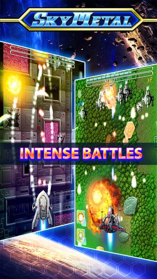 Sky Metal Space Shooting Battle: Galaxy Defender Fighting an Alien Force