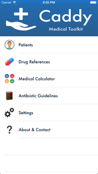 Patient List Medical Tasks and Health Record - Caddy