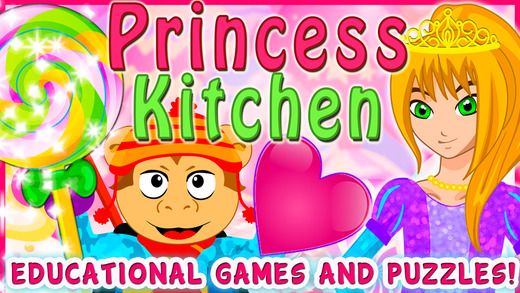 Valentine's Princess Candy Kitchen - Educational Games for kids Toddlers to teach Counting Numbers C