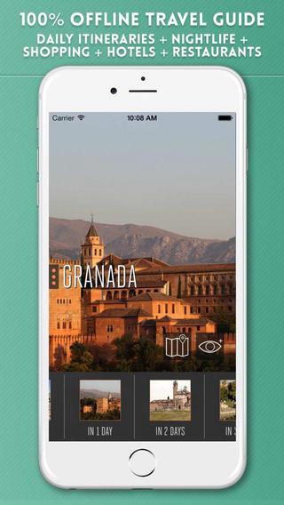 Granada Travel Guide with Offline City Street Maps