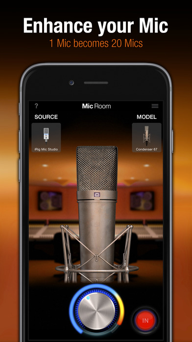 Mic Room Apps for iPhone/iPad screenshot