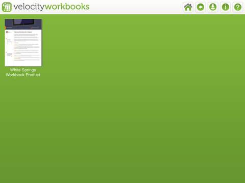 Velocity Workbooks