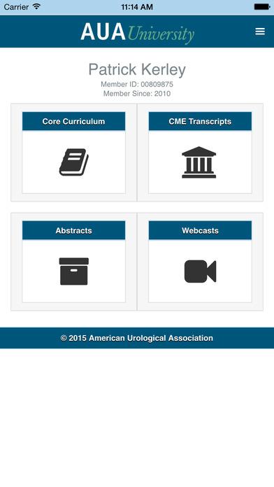 AUA Core Curriculum iPhone Screenshot 3