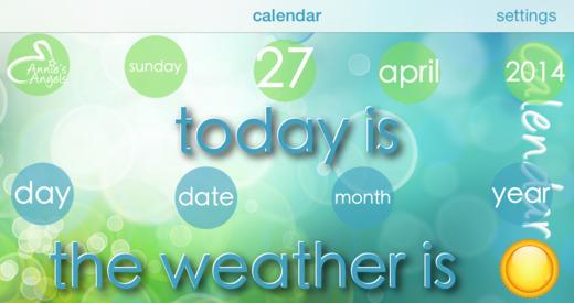 English Calendar