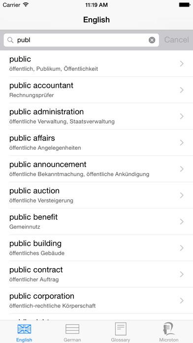iWörterbuch German-English iPhone Screenshot 2