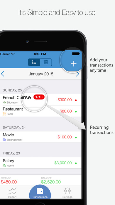 My Finances iPhone Screenshot 2