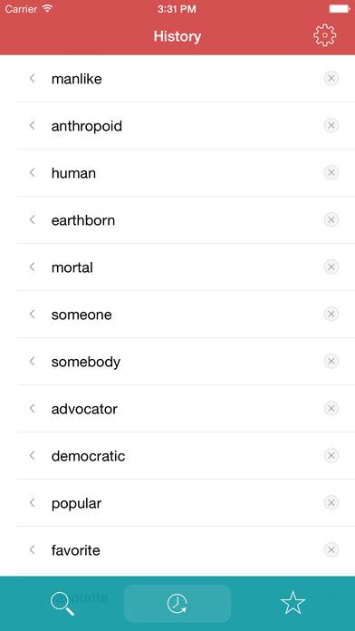 Thesaurus iPhone Screenshot 3