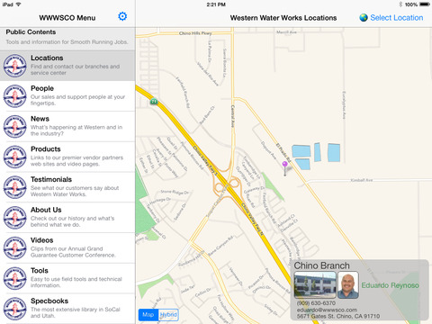 Western Water Works for iPad