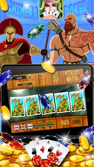 Chimera Video Poker : Big fun with classic adventure casino poker game