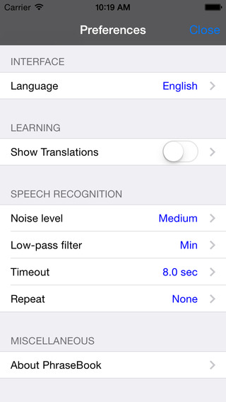 French-Chinese Cantonese Romanized Talking Travel Phrasebook iPhone Screenshot 4