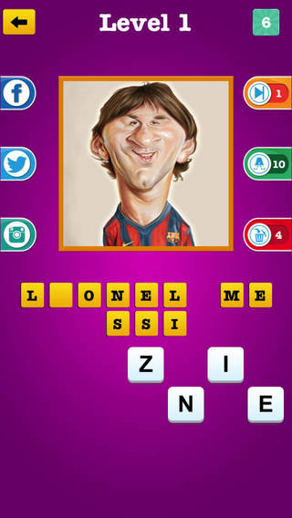 FB Guess The Celebrity Trivia ~ Famous Movie Tv Sport Stars Caricature Photo Image Quiz