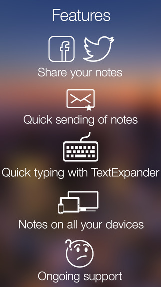 Notes Note-Ify: Colorful notes with Reminders, TextExpander and Dropbox synchronization Screenshots