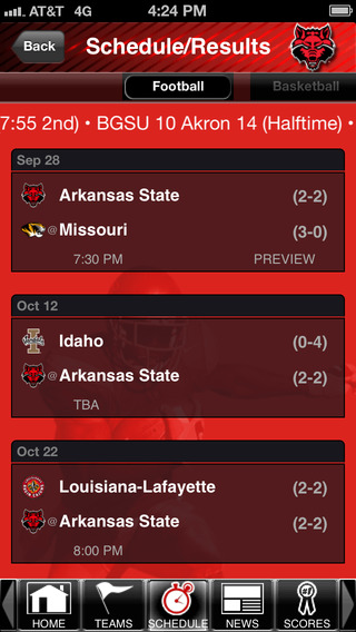 Arkansas State Red Wolves College SuperFans iPhone Screenshot 4