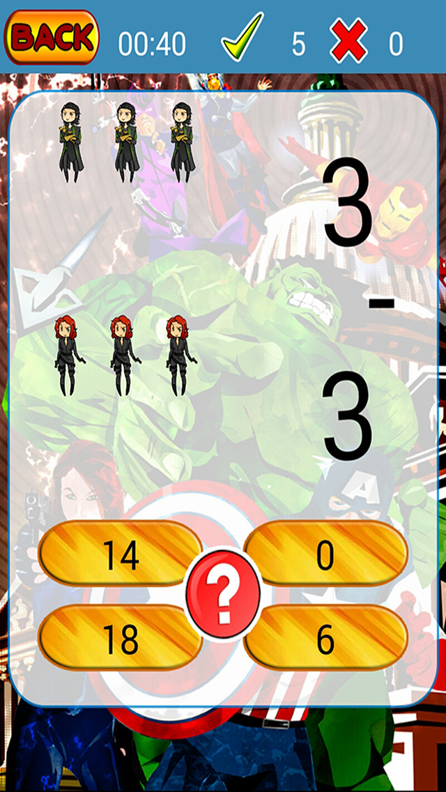 Kids Maths Hero Game For Avengers Version