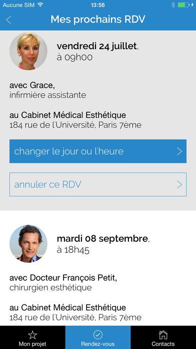 Chirurgie esthétique, Dr François Petit, PARIS iPhone Screenshot 5