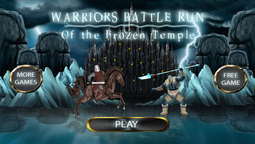 Warriors Battle Run of the Frozen Temple - Kingdom Clash Empires of Fire Ice Wars