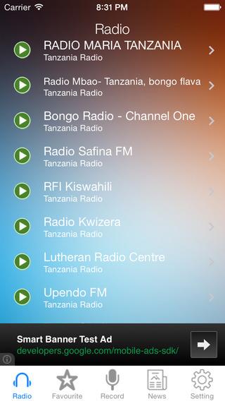 Tanzania Radio News Music Recorder