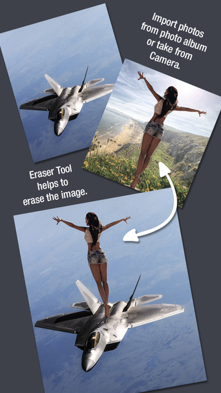 Multiple Photos Cutter - Change Background add Texting to your Images