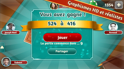 Screenshot 5 Belote.com — Coinche & Belote
