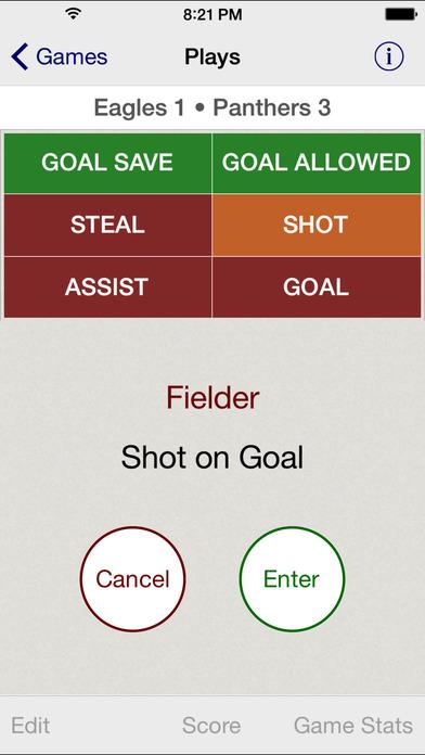 Stat Tap Soccer iPhone Screenshot 3