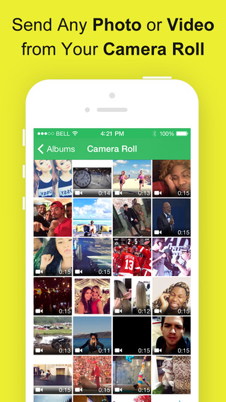 SnapRoll for Snapchat - Send photos videos from your camera roll to snapchat free - Snap Upload