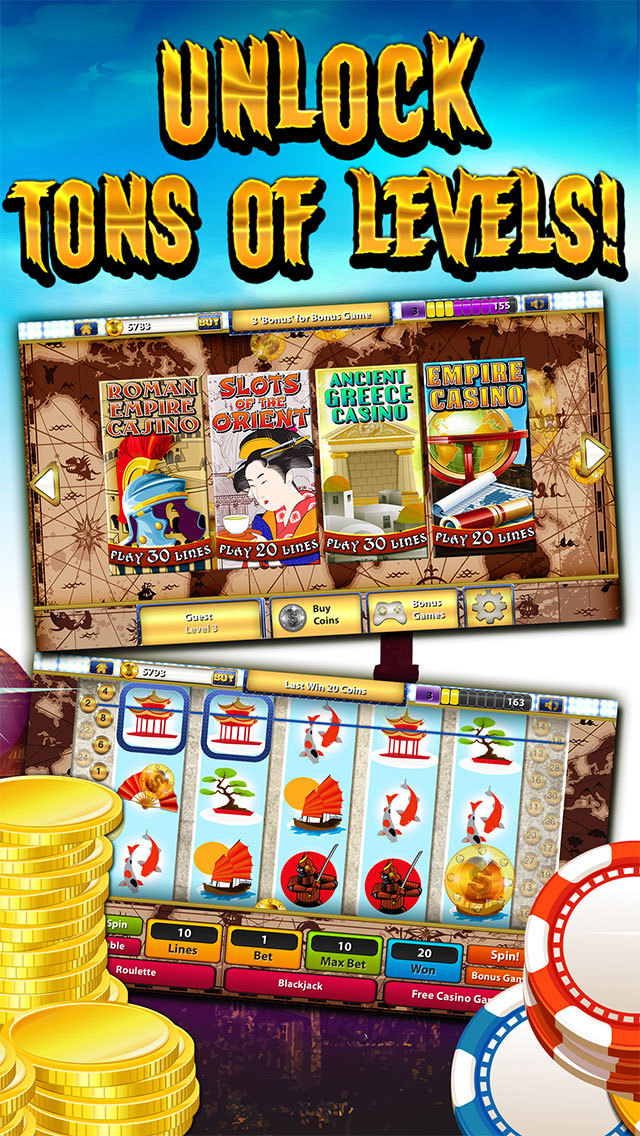 """"""" A Ancient Empires Casino – Free Lucky Slots"""