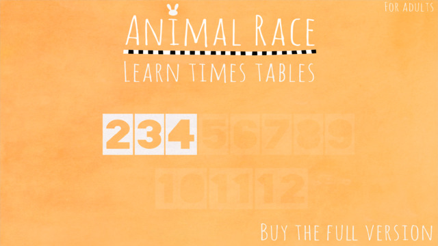 Animal Race: Learn times tables for kids. Lite