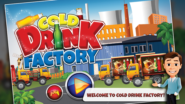 Cold Drink Factory – Make cola soda bottle in this cooking chef game for kids