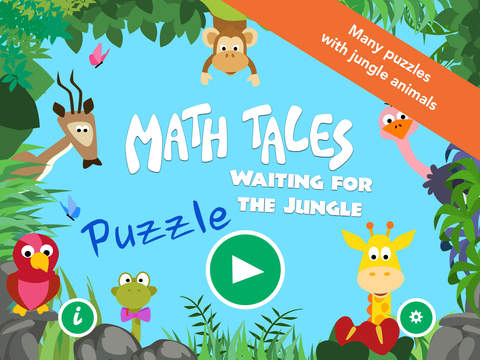 Math Tales Puzzle - Waiting for The Jungle
