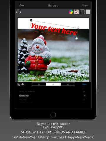 玩免費攝影APP|下載InstaNewYear : Happy New Year & Merry Christmas - Background, Frame & Sticker app不用錢|硬是要APP