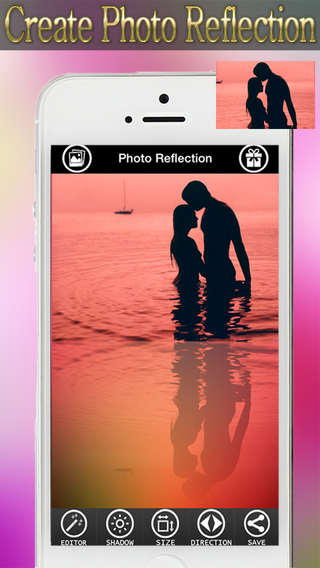 Photo Reflection Effects Free - Reflect You Inverted mail Image