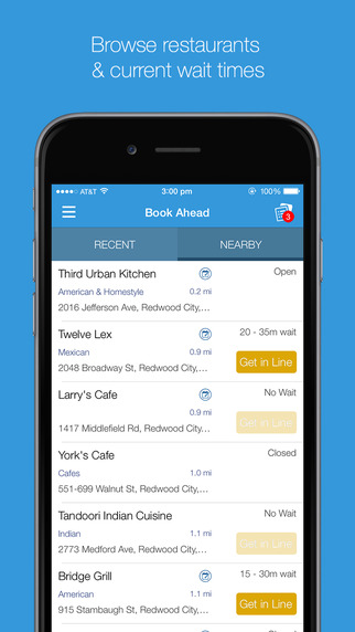 The List - Restaurant Wait list and Booking App