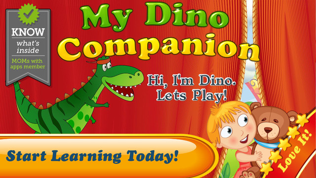My Dino Companion for Kids: Complete Preschool Pre-K and kindergarten learning program by Tiltan Gam