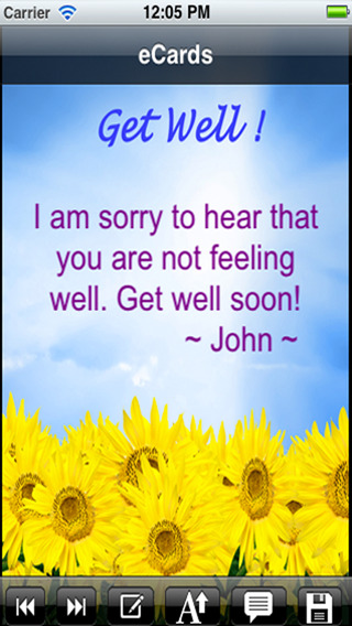 Get Well Cards with photo editor. Send get well soon greetings card and custom get well ecards with