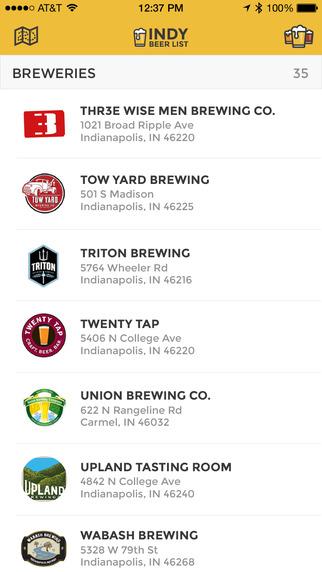 Indy Beer List