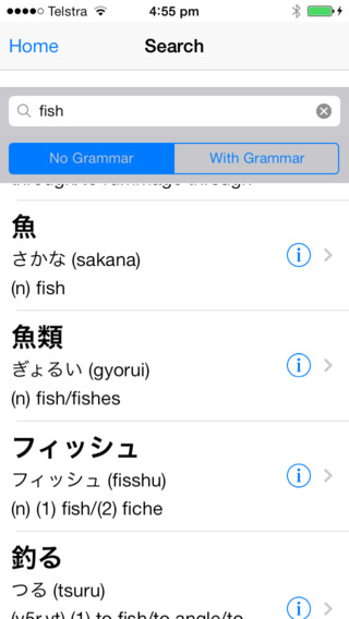Beginners Japanese Dictionary with Grammar