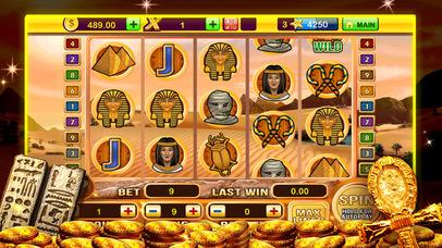 Screenshot 1 A Pharaoh's Gold Las Vegas Progressive Casino Slots