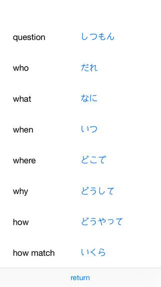 japanese word list