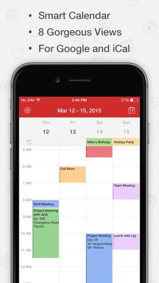 CalenMob Pro - for Google Calendar and iCloud