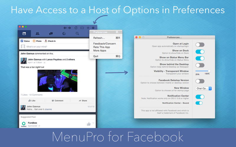 MenuPro for Facebook Screenshot - 4