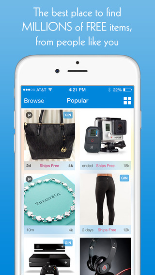 Listia - Get Free Stuff: Sell Buy New or Used Goods