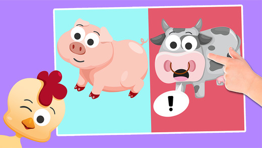 Play with Cartoon Farm Animals - The 1st Sound Game for a toddler and a whippersnapper free