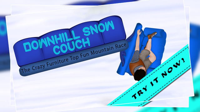 Downhill Snow Couch : The Crazy Furniture Top Fun Mountain Race - Gold