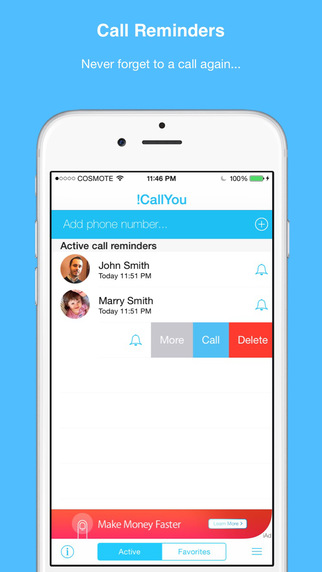 iCallYou- Call Reminder Widget