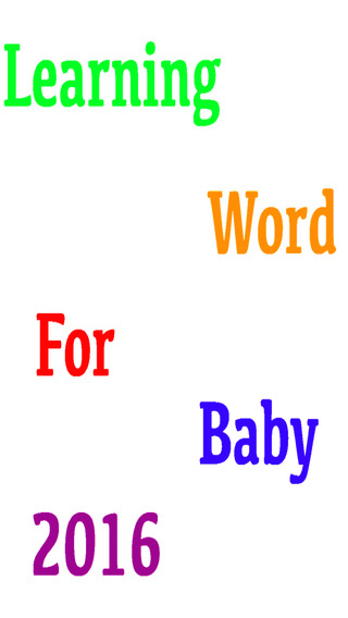 Learning Word For Baby 2016