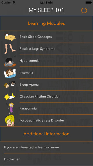 MySleep101 - animated educational modules on sleep disorders