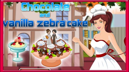 Chocolate And Vanilla Zebra Cake