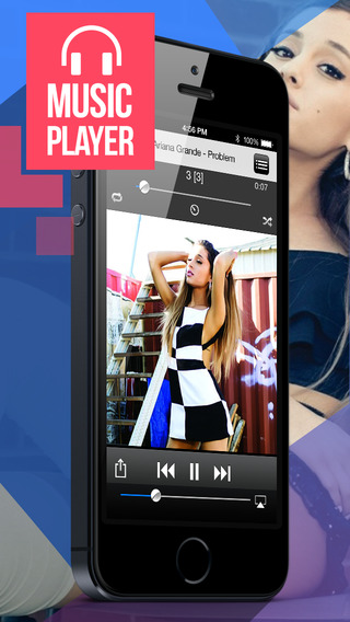 Free Music Player Streamer and Playlist Manager for iPhone.