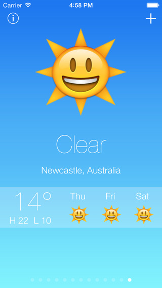Emoji Weather - Fun emoji and emoticon weather reports and forecast